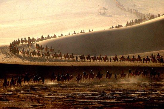 Dunhuang, China: Gorgeous caravan