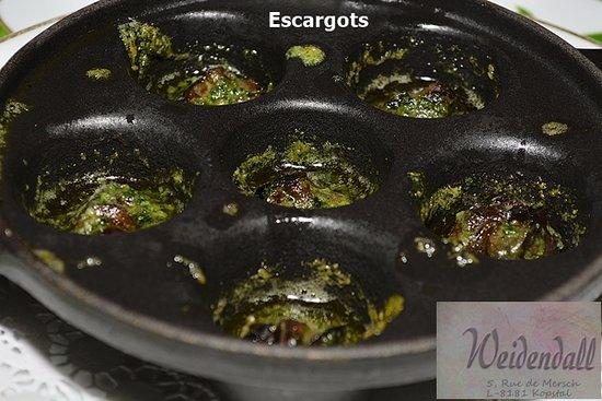 Kopstal, Luxembourg: Escargots de Bourgogne