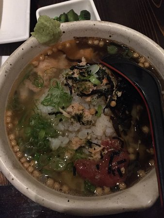 Doraville, GA: Ochazuke Mix - rice bowl with grilled salmon, plum and vegetable in a broth