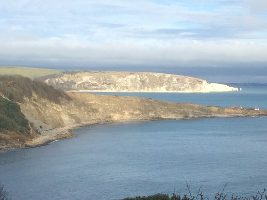 looking back to Swanage from Durlston Head