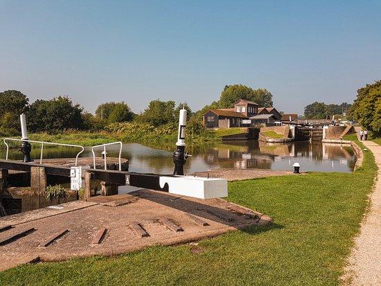 Hatton, UK: One of the locks