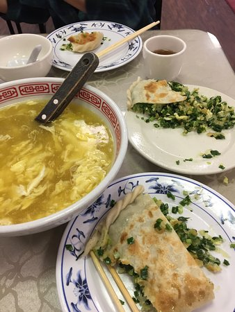 Chamblee, GA: Egg drop soup and chives pie