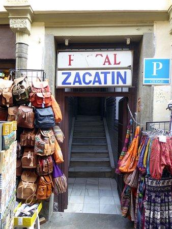 Hostal Zacatin: En något diskret ingång