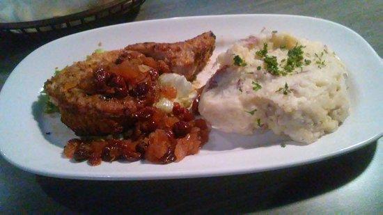 Wayland, MI: Awesome Pork Chop with Apple & Cherry chutney.