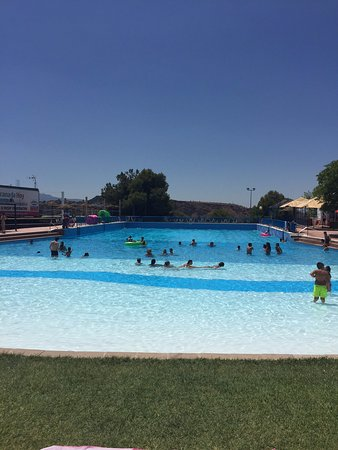 Cenes de La Vega, Spagna: View from sunbeds at end of the main pool