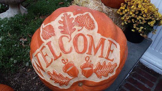 Chappaqua, NY: Welcoming pumpkin