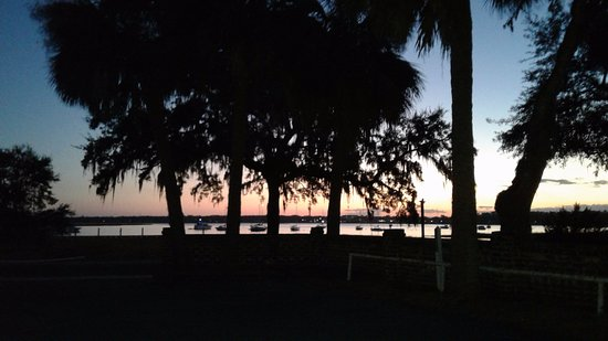 The Rhett House Inn: sunset view from the veranda