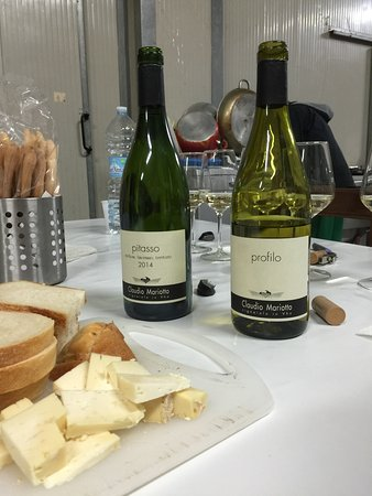 Tortona, Italy: Two wines we purchased