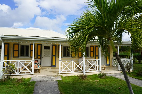 Anguilla Great House Beach Resort : Our king-size room patio