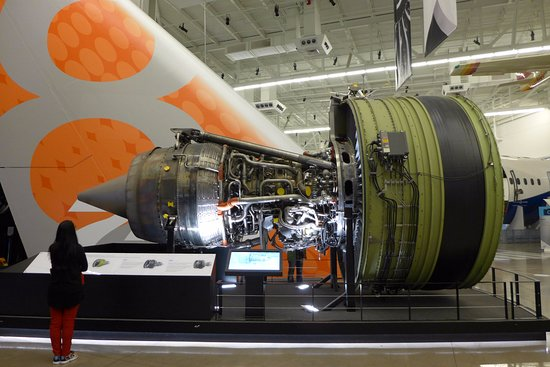 Mukilteo, WA: An aircraft engine in the Future of Flight musuem.