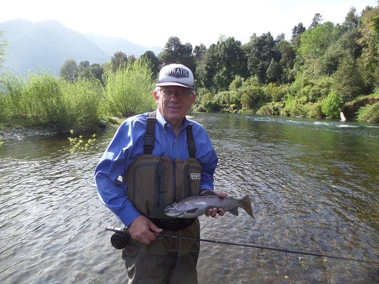 Me and my trout from my day fishing  - Picture of andBeyond