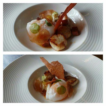 Kerridge, UK: Lunch 36: starter scallops