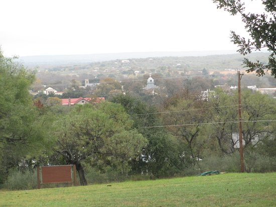 View of the town of Mason, Texas from the Officer's Quarter at Ft. Mason.
