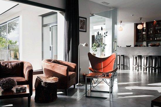The cosy lounge at beautiful El Hotelito