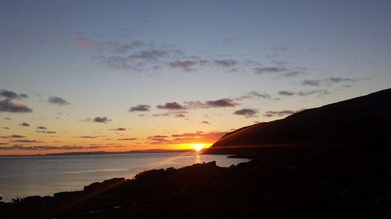 Campbeltown, UK: Sunset over Carskey Bay