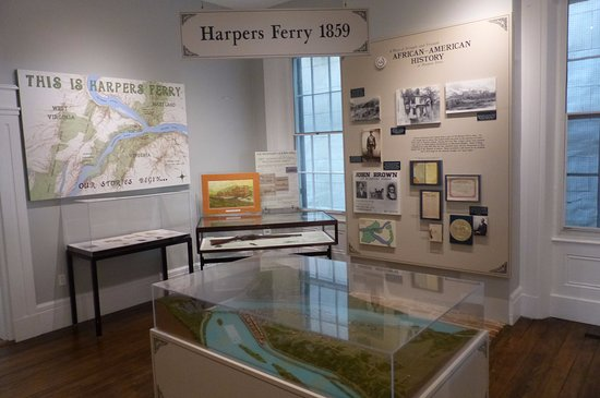 Visitor Centre - exhibition on the history of Harpers Ferry - 1859