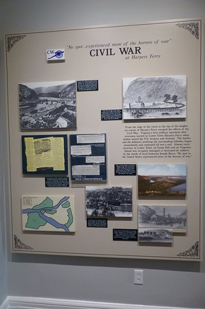 Visitor Centre - exhibition on the history of Harpers Ferry (Civil War)