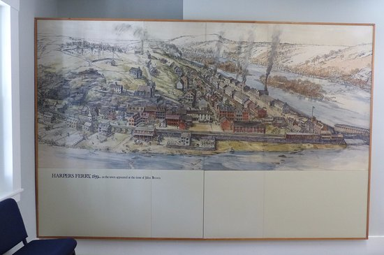 Visitor Centre - exhibition on the history of Harpers Ferry (map)