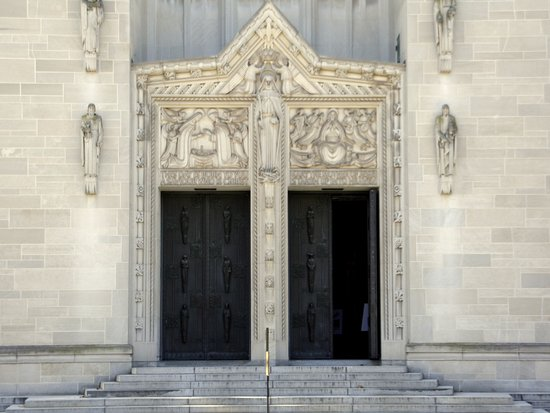 Cathedral of Mary Our Queen Cathedral doors & Cathedral doors - Picture of Cathedral of Mary Our Queen Baltimore ...