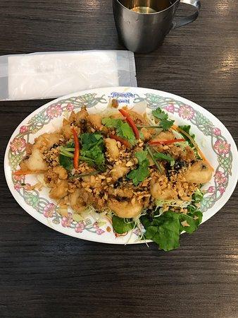 Keawjai: Garlic squid pour un petit creux ! Délicieux !