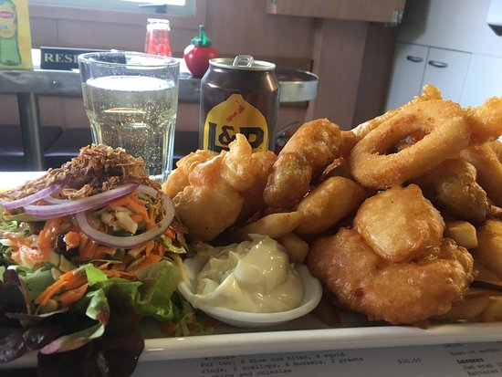 Stewart Island, New Zealand: Seafood Platter for One