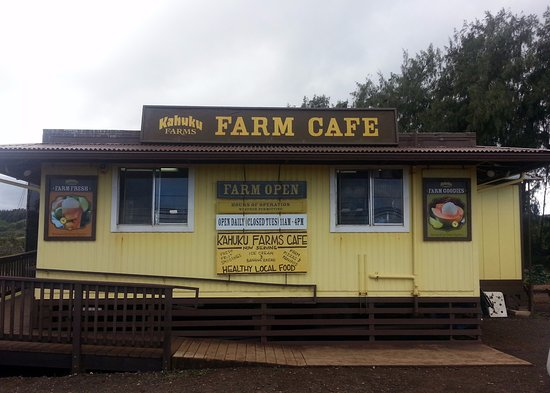 office & front of the Farm Cafe at Kahuku Farms