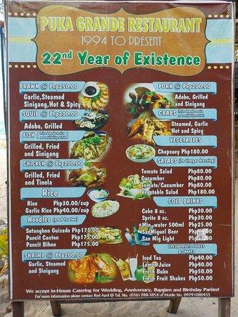 Puka Grande Restaurant: 22 anni
