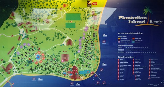 Map of resort Picture of Plantation Island Resort Ma o Lailai