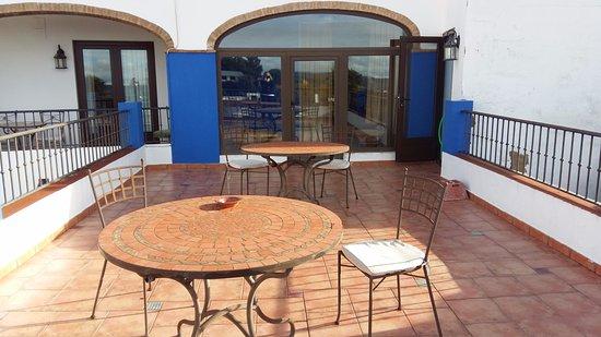 Jerez de los Caballeros, Spania: Terraza compartida,pero estavamos solo