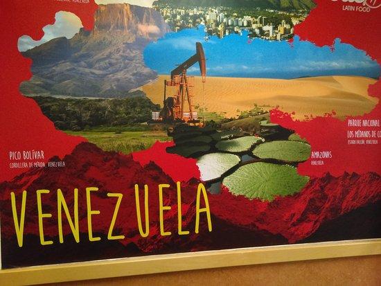 Mounds View, MN: Photos of Venezuela decorate the restaurant.