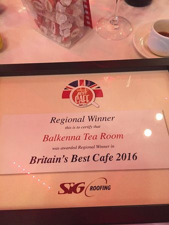 Тернберри, UK: Balkenna won Regional Winner in Britains Best Cafe 2016