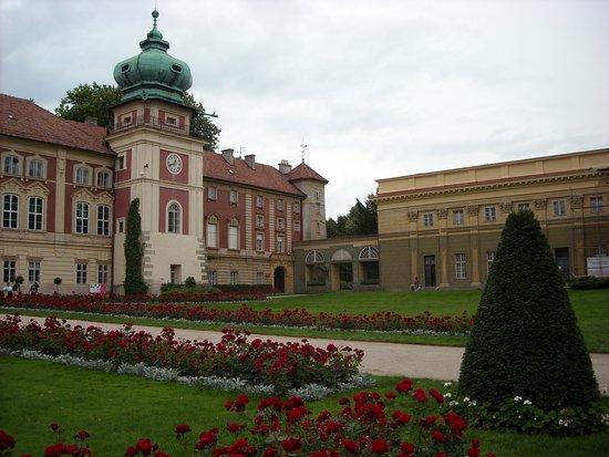Lancut, Polen: zamek - wejście główne