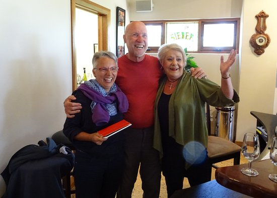 Seppeltsfield, Australie : Hans und Monica Sieber mit Val Sieber