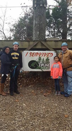 New Florence, MO: Our first time ziplining. We all had a great time!