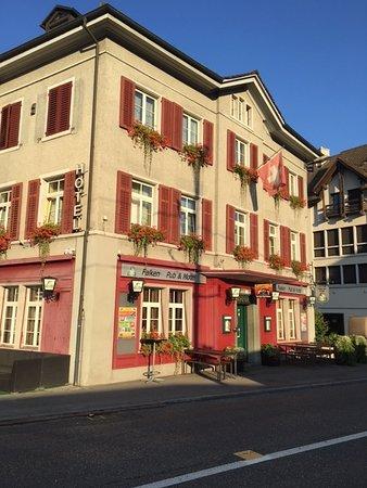 Frauenfeld, Schweiz: Fronten på hotellet