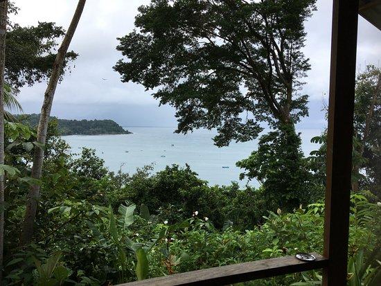 Cabinas El Mirador Lodge: Vue du balcon de mon bungalow