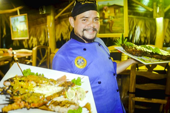 """Cocles, Costa Rica: Lobster in the """" Special Chef's Sauce """"  at Que Rico Papito."""