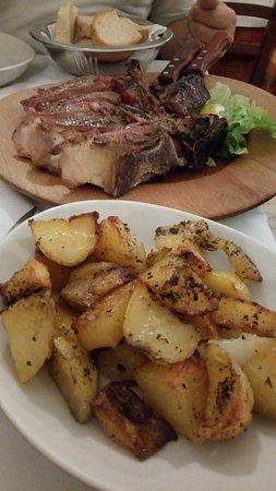 Antica Trattoria da Tito: bistecca con patate