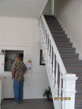 Augusta, MT: stairs going to rooms