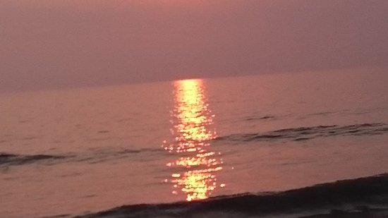 Borth, UK: Sunset late Summer