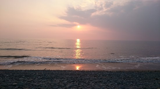 Borth, UK: Sunset late Summer