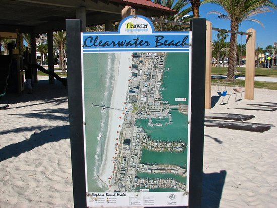 Map Picture of Clearwater Beach Visitor Information Center
