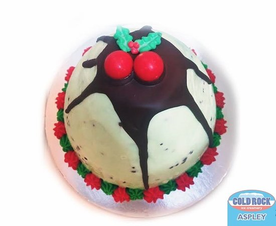cold rock ice creamery ice cream christmas cake and pudding