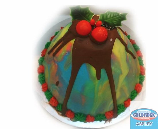 Chermside, Austrália: ice cream christmas cake and pudding