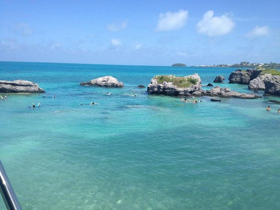 Somerset Village, Bermuda: Snorkelling on the Glassbottom and Snorkel Combo Tour