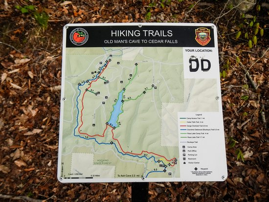 Trail Map at End of Group Camping Area Picture of Hocking Hills