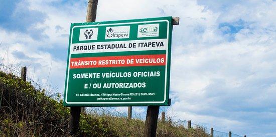 Itapeva State Park: Placa.