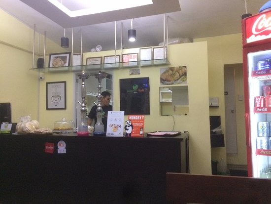 Beit She'an, Israël: Restaurant im 1.Stock des Gebäudes
