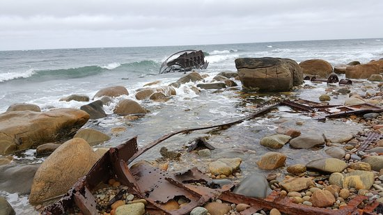 Wreck of the S.S. Ethie: SS Ethie remains