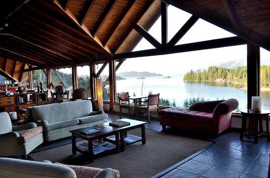 Marinas Alto Manzano : Sala de estar y desayunador